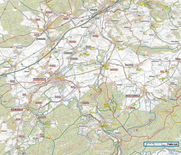 Nové trhací mapy Mikroregionu Hořovicko